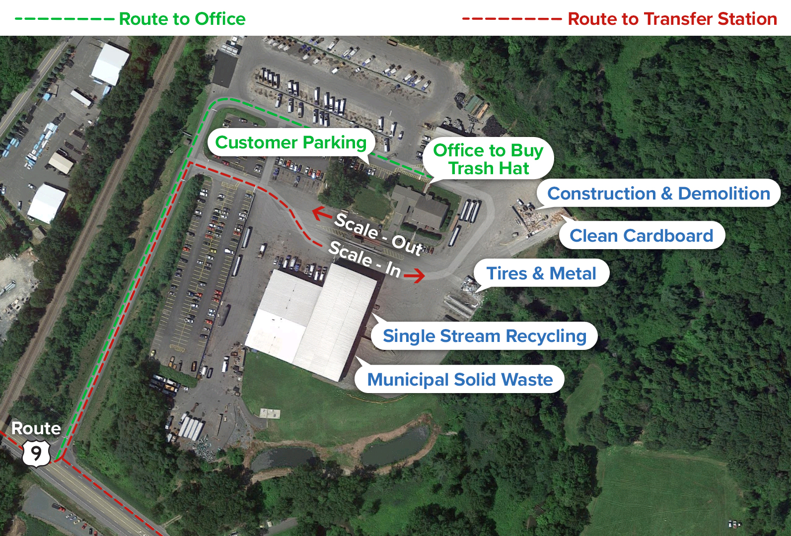 Directions to County Waste and Recycling