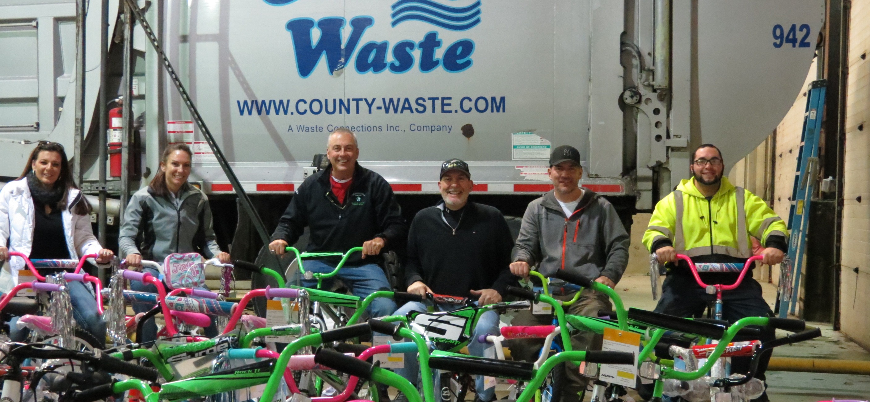 County Waste Christmas Bike Promise 2016