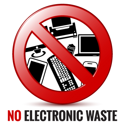 Electronic Waste is not allowed in County Waste NY containers