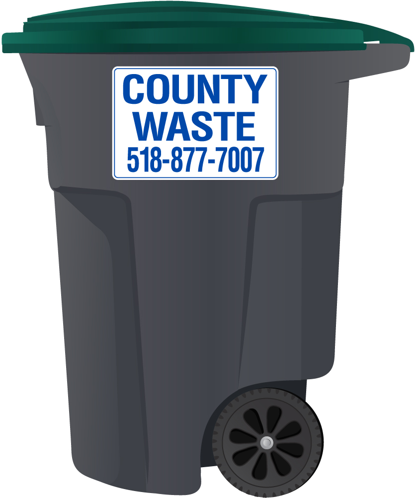 County Waste 95 Gallon Recycling Cart